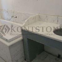Столешница для ванной из мрамора Statuario