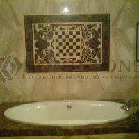 Ванная комната из мрамора Emperador Light и ROJO CEHEGIN
