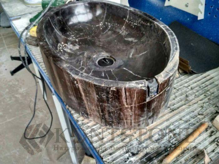 Реставрация раковины из Окаменелого дерева