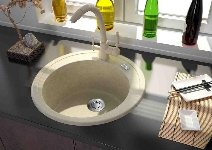 Глубокие мойки для кухни из искусственного камня