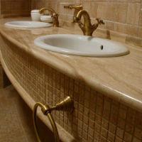 Преимущества столешницы из мрамора для ванной