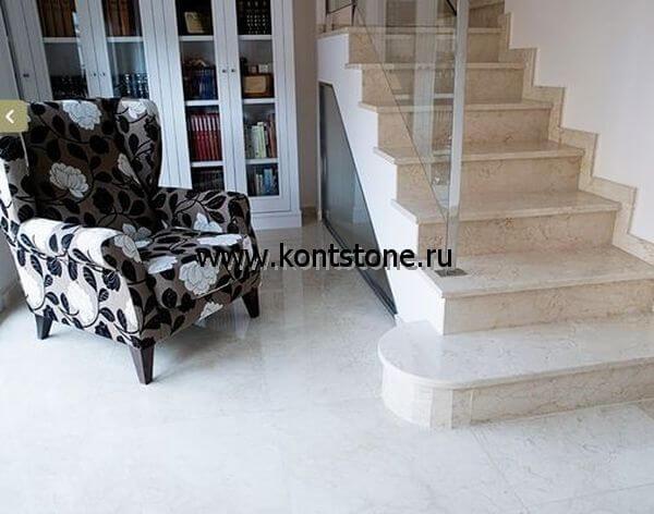 Лестницы и ступени из мрамора